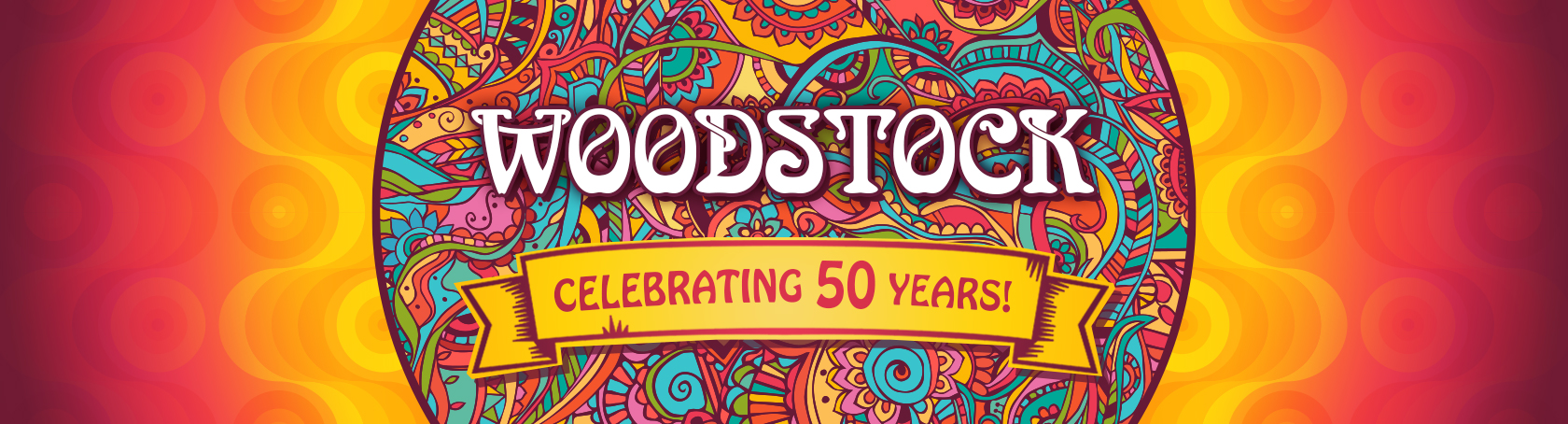 Banner for Woodstock Turns 50!