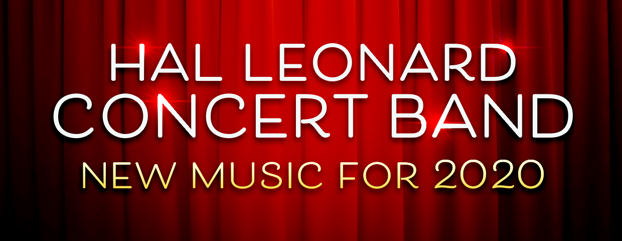 Banner for 2020 New Music for Concert Band from Hal Leonard