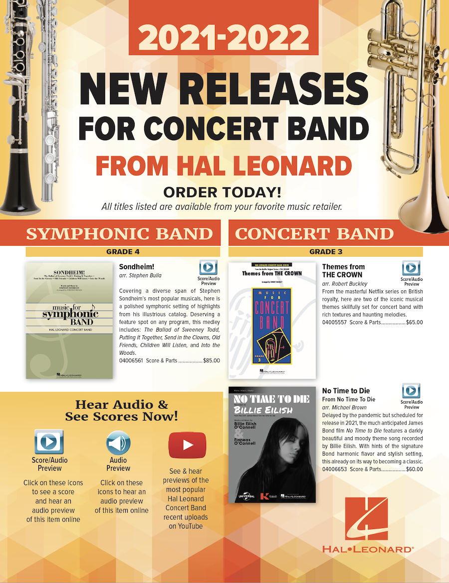 Banner for 2021 New Music for Concert Band from Hal Leonard