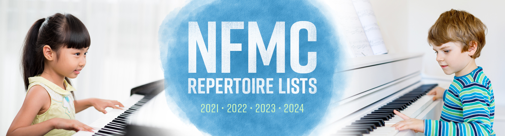 Banner for 2021-2022-2023-2024 National Federation of Music Clubs Hal Leonard Piano Publications